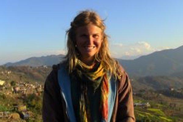 Veronika na jednom zvýletov po Indii.