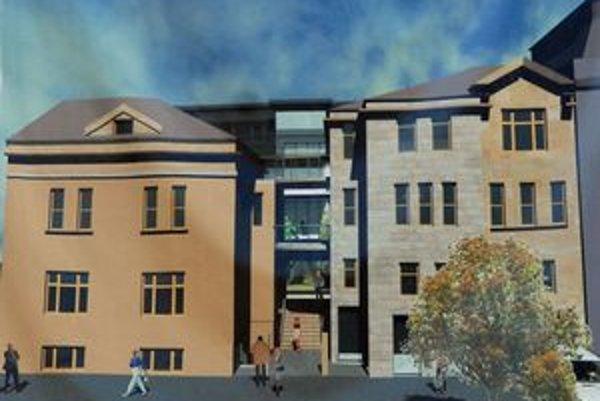 Takto by mala vyzerať napodobenina zbúraného domu na Hviezdoslavovej po dokončení.