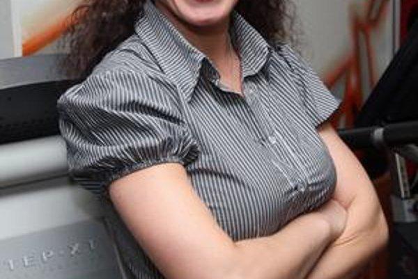 Herečka Gabika Dzúriková.