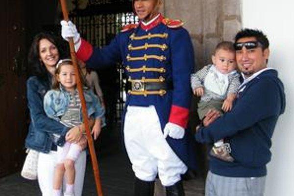 Miguel s rodinkou navštívil aj prezidentský palác.