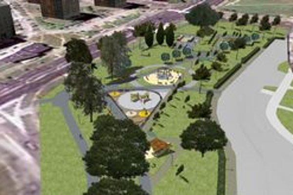 Vizualizácia. Takto by mal vyzerať park, ale obyvatelia môžu vedeniu mestskej časti KVP prispieť aj svojimi návrhmi.