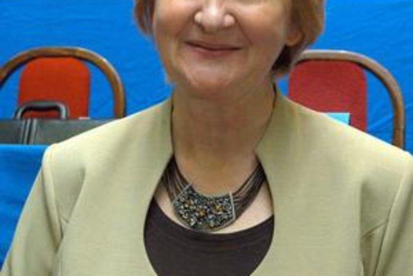 Poslankyňa NR SR Mária Sabolová.