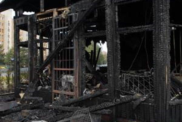 Laguna. V auguste 2009 pri jej požiari obhoreli tri autá.