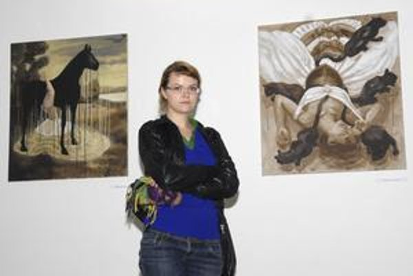 Lucia Dovičáková. Jej tvorbu nájde verejnosť v Kulturparku do piatku.