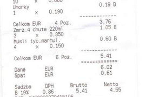Čisto eurový bloček. Stále je neprípustný, obchodník neuvedením informatívnej ceny v korunách porušuje zákon.