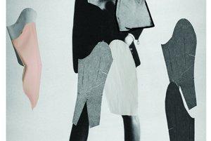 Ukážka Lindinej koláže pred navrhovaním samotného modelu