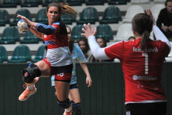 Katarína Pavúková. Krídelníčka Bemaca (sloptou) strelila naostatok tri góly.