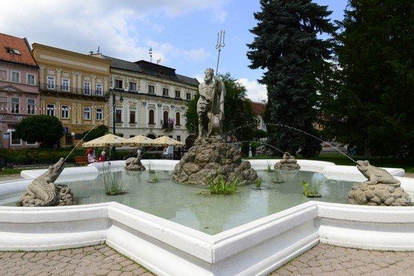 Neptúnova fontána v Prešove.