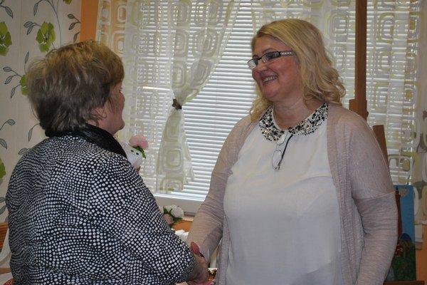 Vďaka patrila najmä riaditeľke centra Anne Suchej (vpravo).