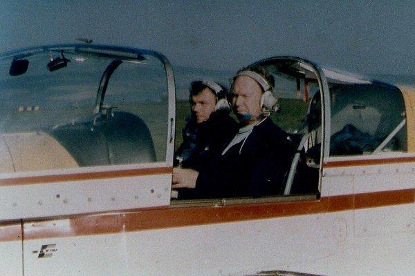 Gejza Markovič so synom, tiež pilotom.