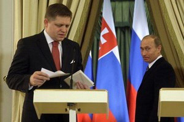Robert Fico v Moskve.