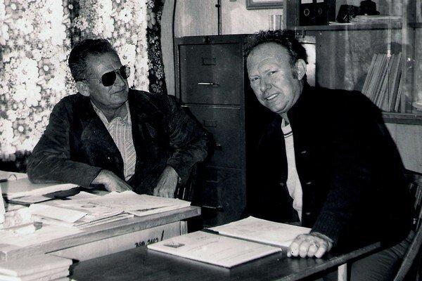 Džimy Kövary s Gejzom Markovičom. Každú akciu v Aeroklube dôsledne plánovali.