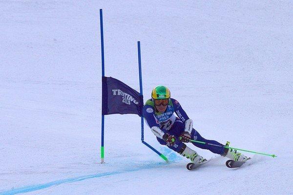 Matej Falat na svahu. Preferuje slalom a kombináciu.