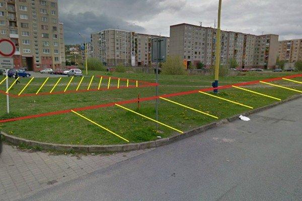 Parkovanie. Ľudia zo Sibírskej majú svoju predstavu, ako vytvoriť plochy, hoci aj na trávnikoch.