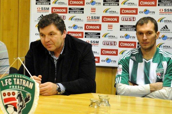 Miroslav Remeta (vľavo). K najbližšej budúcnosti Tatrana sa ešte nevyjadril.