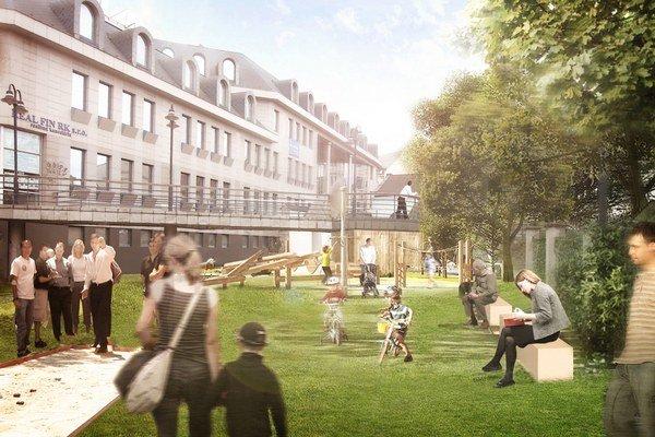 Vizualizácia: Takto bude vyzerať nový park.