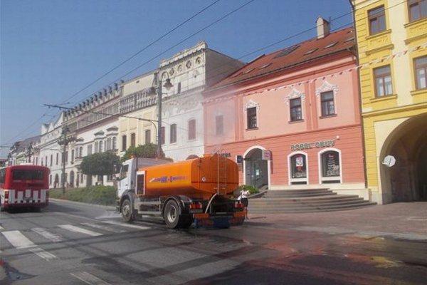 Takéto polievacie auto v Trnave neuvidíte.