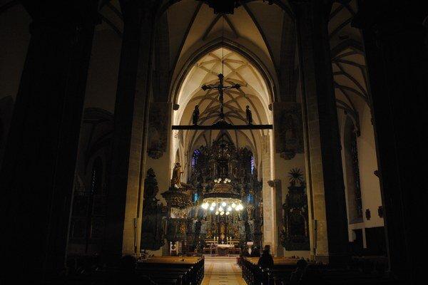 Konkatedrála sv. Mikuláša. Na jej opravu pomôže aj divadelné predstavenie.