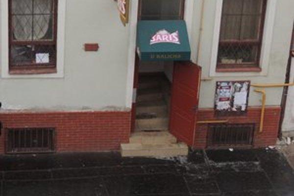 Krčma na Slovenskej ulici. Včera tu musela zasahovať polícia.
