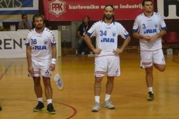 Ivano Balič. Hviezda Croatie (na snímke uprostred) radí Tatran v SEHA League do kvarteta najlepších.