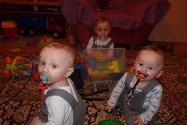 Chlapci Brumerčíkovci vo februári oslávili svoj prvý rok života.