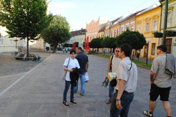 V Prešove. Zakarpatskí žurnalisti počas svojej návštevy.