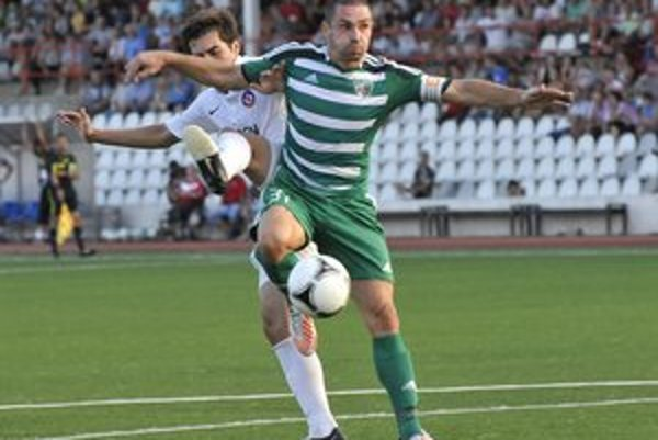 Peter Petráš. Kapitán Prešovčanov nastúpil v sobotu na svoj dvestý zápas v Corgoň lige.