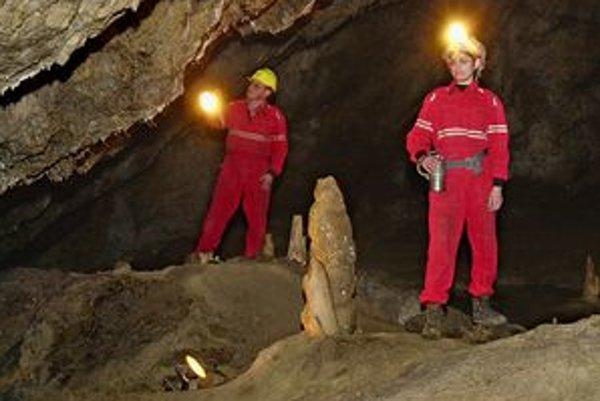V jaskyni Zlá diera.