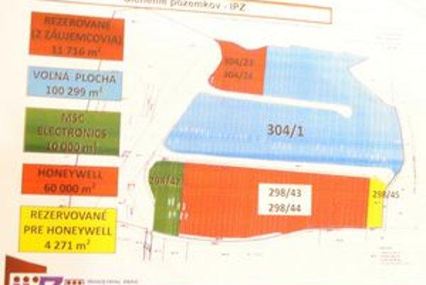 Členenie pozemkov IPZ. ThyssenKrupp získa desať hektárov.