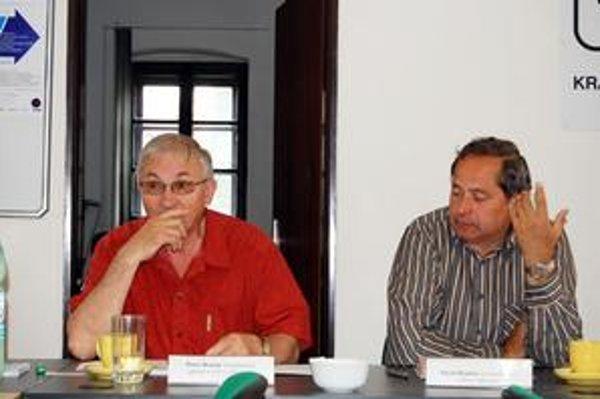 Nadšenci. Peter Begeni, programový garant a režisér slávností a Pavol Bogdan, predseda organizačného výboru slávností.