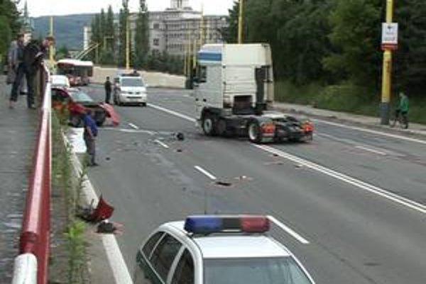 Havária na prešovskej Duklianskej ulici.
