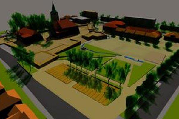 Vizualizácia. Takto by malo vyzerať nové námestie v Stropkove.