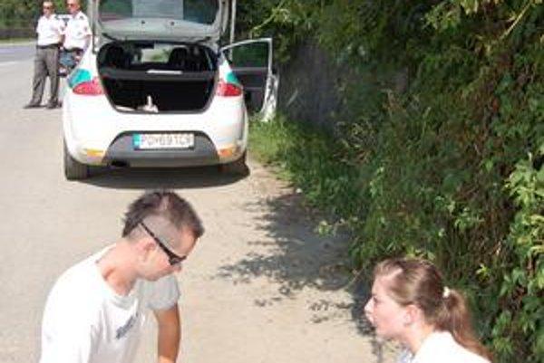 Prvá pomoc. Dobrovoľníčky vysvetľovali vodičom, ako poskytnúť prvú pomoc.