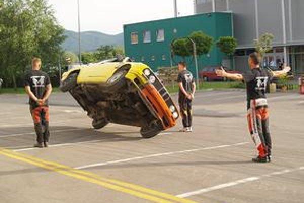 Kaskadéri z Extrem Cascaders Team. Súčasťou akcie budú aj kaskadéri, ktorí účinkovali v Kobre 11 a Taxi 2.Foto: