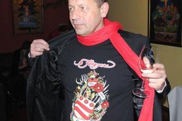 Pavel Hagyari vo víťaznom tričku.