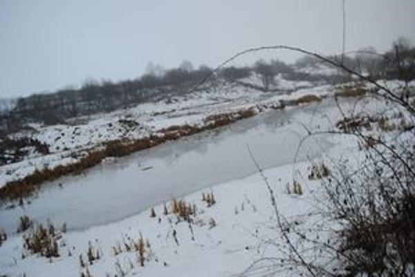 """Nová Pustiňa. Zatiaľ je tu """"jazero""""."""