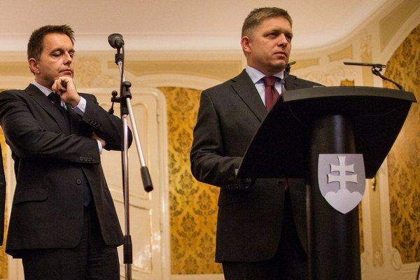 Robert Fico a Peter Kažimír.