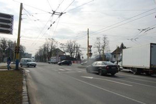 Križovatka ulíc Masarykova - Škultétyho - Kuzmányho. V súčasnom režime funguje už viac ako dvadsať rokov.