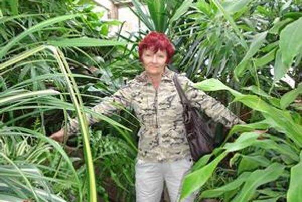 Marianna. V Bratislave si prevzala cenu a stihla zájsť aj do botanickej záhrady.
