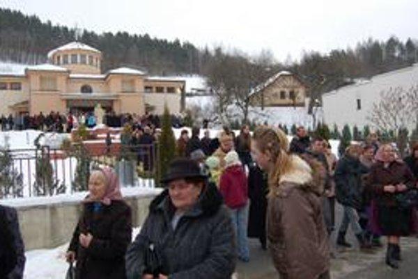Valentínska púť. Prišlo okolo 500 ľudí.