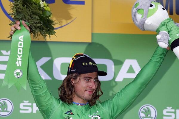 Peter Sagan si znovu obliekol zelený dres pre lídra bodovania.