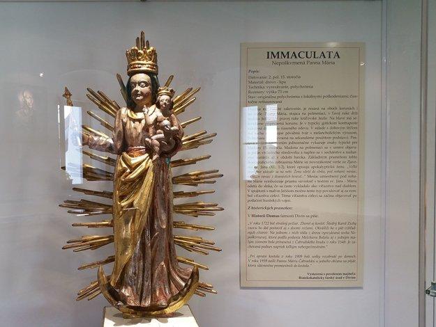 Socha Panny Márie, takzvanej Čabraďskej.