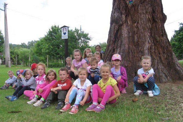 V areáli kaštieľa v Uzovskom Šalgove je aj ihrisko tamojšej materskej školy. Rastie tu vzácny a chránený strom sekvojovec mamutí. Pod ním sa hrávajú aj škôlkari.