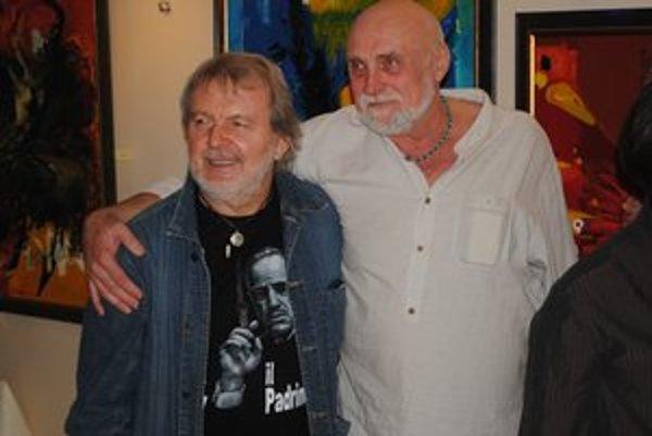 Ukrajinský národný umelec. Volodymyr Kolesnikov (vpravo) vystavuje na Slovensku.