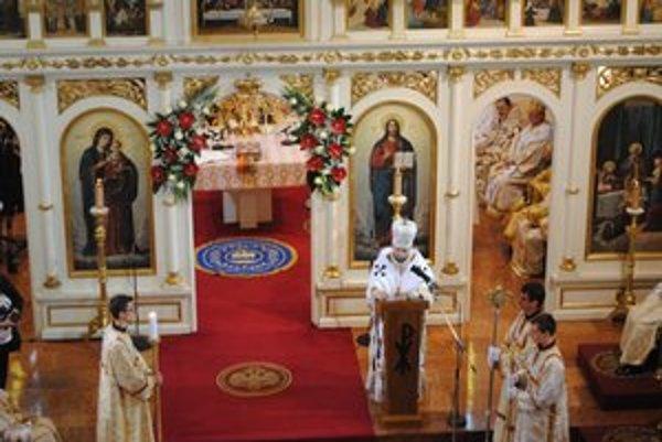 Cyril Vasiľ. V kázni sa prihovoril novému biskupovi i veriacim.