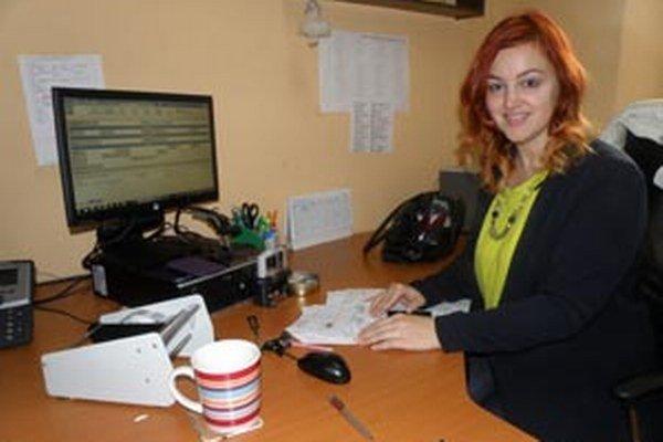 Andrea Jamrišková Pracuje v podateľni prievidzského úradu práce.