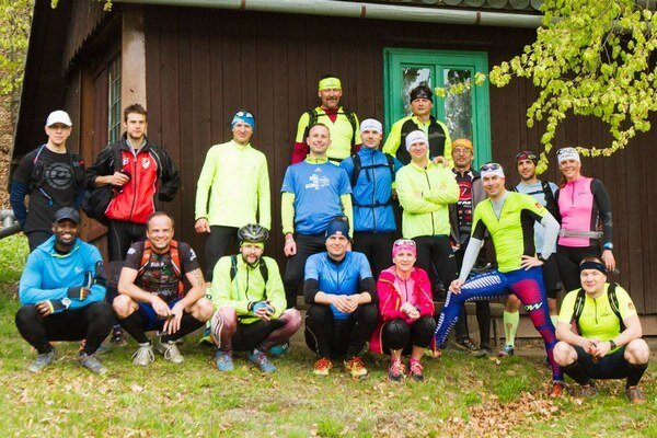 Na trati. Účastníci Dobšinské chaty 2016 trail.