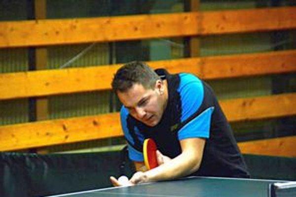 Stolný tenista Gregor Gallo.
