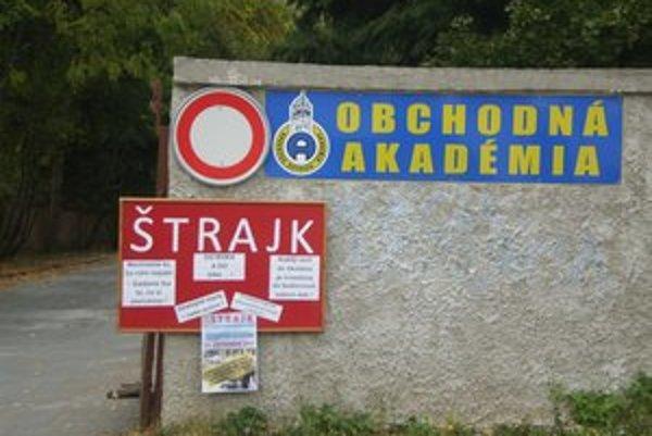 Štrajk. Niektoré školy boli aj vyzdobené.