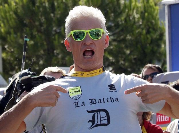 Oleg Tiňkov si užíva víťazstvá na Tour de France zrejme posledný rok.